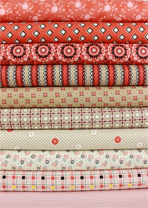 Denyse Schmidt for Free Spirit, Stonington, Lobster in FAT QUARTERS 10 Total