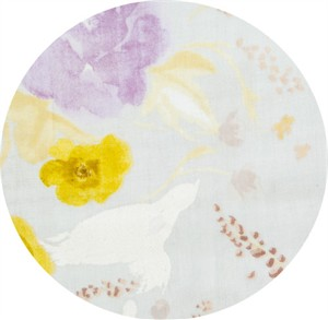 Nani Iro, Meadow DOUBLE GAUZE, Birds and Blooms Lavender