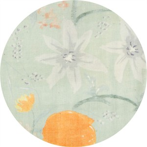 Nani Iro, Meadow DOUBLE GAUZE, Birds and Blooms Sage