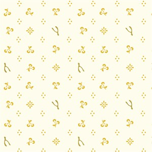 Arleen Hillyer for Birch Organic Fabrics, Merryweather, DOUBLE GAUZE, Merrythought Cream/Metallic