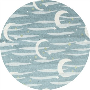 Japanese Import, DOUBLE GAUZE, Moon and Stars Blue