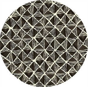 Quilting Treasures, Maya, Diamond Geometric Black