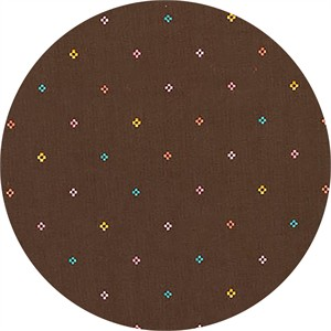 Liesl Gibson for Robert Kaufman, Woodland Clearing, LAWN, Diamond Stitch Brown