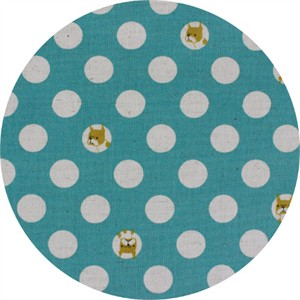 Japanese Import, CANVAS, Dog Dot Aqua