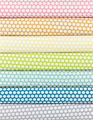 Jay-Cyn Designs for Birch Fabrics, Mod Basics, ORGANIC, Dottie Cream 7 Total
