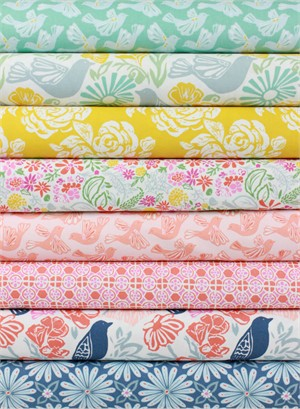 Kate Spain for Moda, Early Bird in FAT QUARTERS 8 Total (PRECUT)