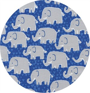 Timeless Treasures, Elephants Blue