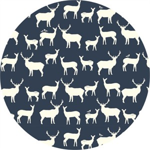 Jay-Cyn Designs for Birch Fabrics, Mod Basics 2, Organic, Elk Fam Dusk