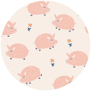 Emily Isabella for Birch Organic Fabrics, Homestead, Oink