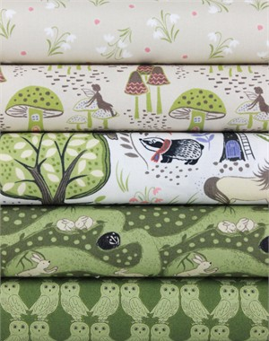Lewis & Irene, Enchanted Forest, Afternoon in FAT QUARTERS 5 Total
