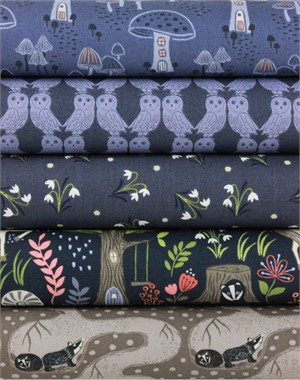 Lewis & Irene, Enchanted Forest, Night in FAT QUARTERS 5 Total