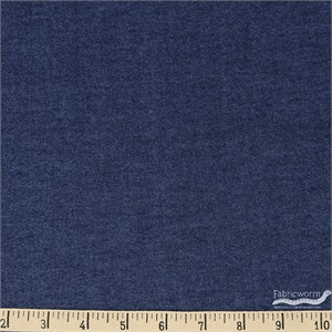 Robert Kaufman, FLANNEL Chambray, Denim Blue
