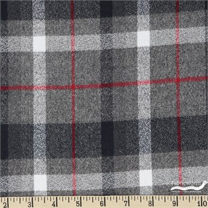 Robert Kaufman, Mammoth FLANNEL, Campout Grey