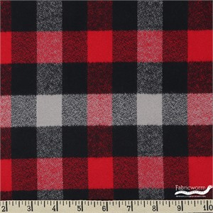 Robert Kaufman, Mammoth FLANNEL, Cozy Red