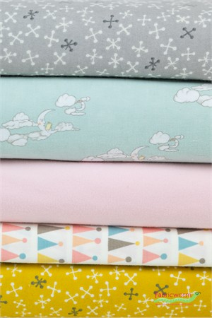 Fabricworm Custom Bundle, BRUSHED COTTON/FLANNEL, Sweet Dreams 5 Total