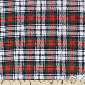 Imported Woven Yarn-Dyes, Windstar FLANNEL, Tartan Red Green