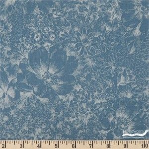 Japanese Import, Faint Floral Blue