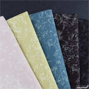 Japanese Import, Faint Floral in FAT QUARTERS 5  Total