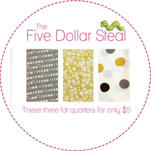 Five Dollar Steal, Daisy Dot Moon in FAT QUARTERS 3 Total