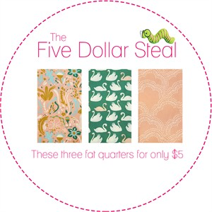 Five Dollar Steal, Pink Pond in FAT QUARTERS 3 Total