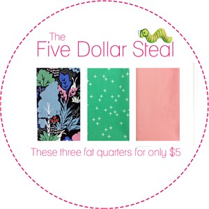 Five Dollar Steal, Wonderland Sparkle in FAT QUARTERS 3 Total