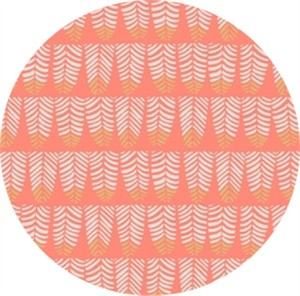 Rae Ritchie for Dear Stella, Trail Mix, Feathers Coral
