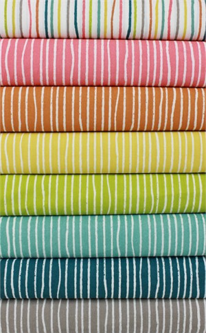 Jay-Cyn Designs for Birch Organic Fabrics, Farm Fresh, Yarn Stripe in FAT QUARTERS 8 Total (PRECUT)