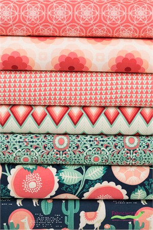 Joel Dewberry for Free Spirit, Florabelle Sedona in FAT QUARTERS 7 Total
