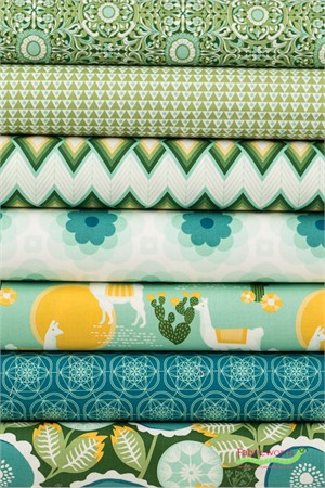 Joel Dewberry for Free Spirit, Florabelle Taos in FAT QUARTERS 7 Total
