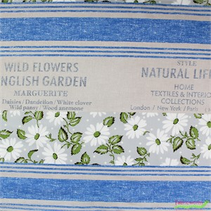 "Japanese Import, Floral Feedsack Grey (23"" Panel)"