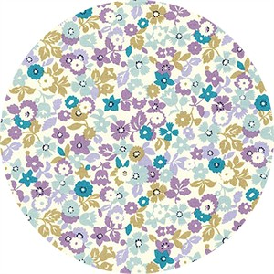Sevenberry for Robert Kaufman, Petite Garden, Flowery Purple