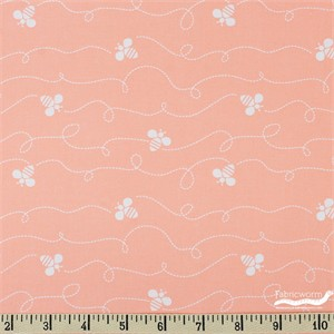 Jack!e for Camelot Fabrics, Bee Youtiful, Flutter Peach