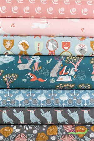 Rae Ritchie for Dear Stella, Folkwood in FAT QUARTERS 7 Total