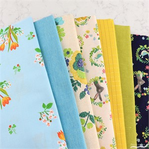 Fabricworm Custom Bundle, Forest Flower Patch in FAT QUARTERS 7 Total