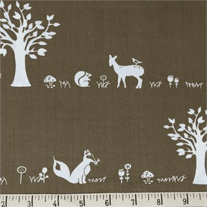 COMING SOON, Jay-Cyn Designs for Birch Organic Fabrics, Storyboek Drie, Forest Friends Brown