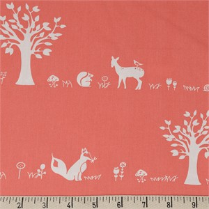 COMING SOON, Jay-Cyn Designs for Birch Organic Fabrics, Storyboek Drie, Forest Friends Coral
