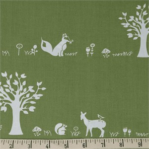 COMING SOON, Jay-Cyn Designs for Birch Organic Fabrics, Storyboek Drie, Forest Friends Moss
