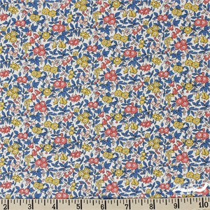 Liberty London Fabrics, Cottage Garden, Forget Me Not Blue