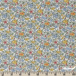 Liberty London Fabrics, Cottage Garden, Forget Me Not Yellow