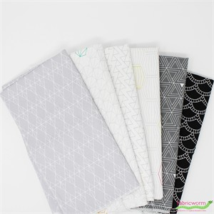 Shayla Wolf for Windham, Foundation, Shadow in FAT QUARTERS 6 Total (PRECUT)