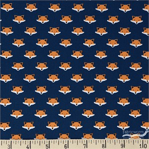 Andie Hanna for Robert Kaufman, Andie's Minis, Fox Face Royal Blue