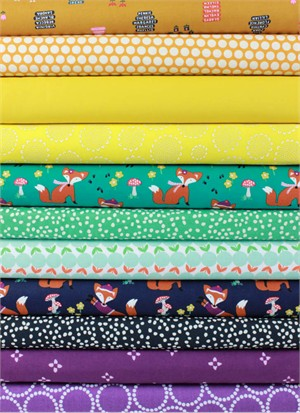 Fabricworm Custom Bundle, Foxy Forest in FAT QUARTERS 11 Total
