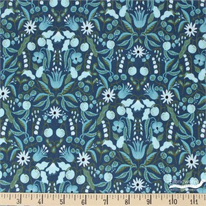 Rifle Paper Co. for Cotton and Steel, Amalfi, Freja Turquoise