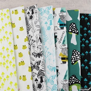 Sarah Watts for Cotton and Steel, Front Yard, Clover in FAT QUARTERS 6 Total