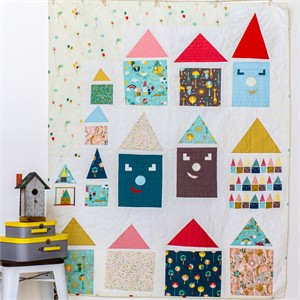 Free Pattern | Happy Houses Quilt | by Rossie Hutchinson