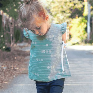 Free Pattern & Tutorial: Reversible Wrap Top by Craftiness Is Not Optional