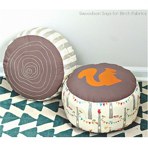Free Pattern | Log Slice Pouf by Swoodson Says