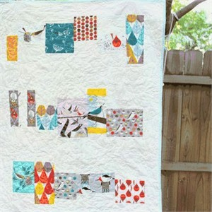 Free Tutorial: Charley Harper Baby Quilt by Beth of Plum and June