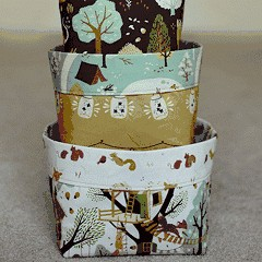 Free Tutorial: Fabric Bins by Christina McKinney