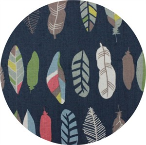 Japanese Import, CANVAS, Funky Feathers Navy